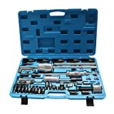 OUBAYLEW 40 pc DIESEL MASTER INJECTOR EXTRACTOR SLIDE HAMMER PULLER Common Rail (Blue)