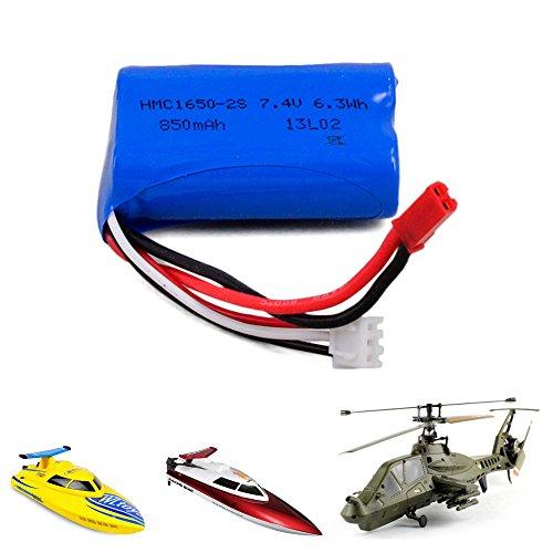 850mAh 7,4V Akku für RC Hubschrauber Comanche FX060 E1003, RC Boot FT007, WL911, Ersatzakku, Ersatzteil, Neu (Chopper Comanche)