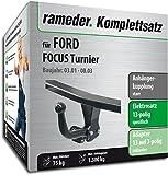 Rameder Komplettsatz, Anhängerkupplung starr + 13pol Elektrik für Ford Focus Turnier (142797-03589-1)