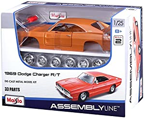 Tobar 01:25 Escala Kit de Juguetes a Control Remoto Edición Especial 1969 Dodge Charger R / T
