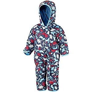 Columbia Schneeanzug für Kinder, Snuggly Bunny Bunting, Polyester, Rot (Red Spark Critters/Dark Mtn), Gr. 0/3, 1516331