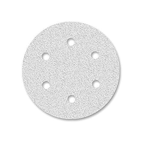 50 Disques abrasifs auto-agrippants MioTools pour ponceuse excentrique - Ø 150 mm - grain 320 - 6 trous