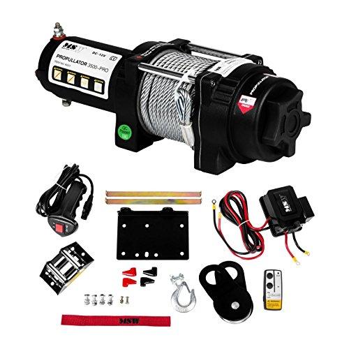 Preisvergleich Produktbild MSW Seilwinde Elektrisch PROPULLATOR 3500-PRO Traghaft 1587 Kg Motor mit Funkfernbedienung Plannetengetriebe