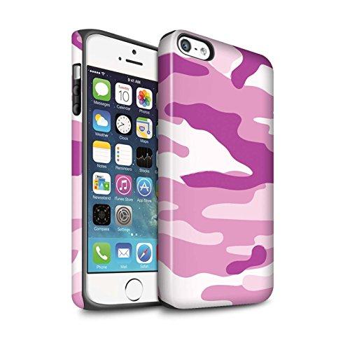 STUFF4 Matte Harten Stoßfest Hülle / Case für Apple iPhone 6S / Weiß 1 Muster / Armee/Tarnung Kollektion Rosa 2