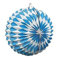Boland 54215 2 Laternen Bayern 22 cm,  Blau/Weiß