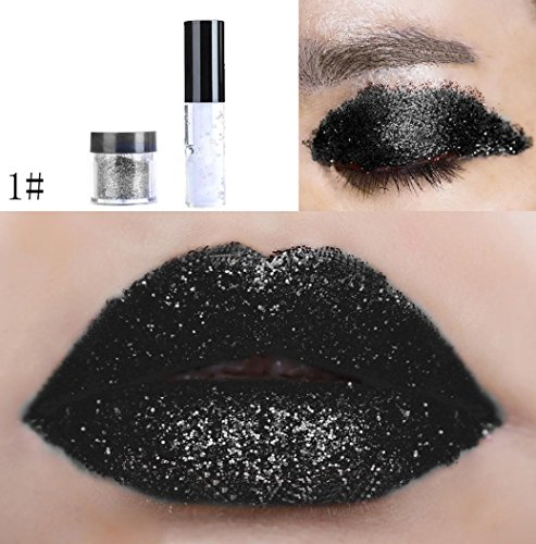 Lippenstift Lipstick Lipgloss Upxiang Schimmer Diamond Glitter Lidschatten Pulver Make-up Lippenstift Pailletten Lidschatten Kosmetik (1#) - Lange Tragen Matte Lippenstifte