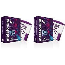 Soria Natural Melatonina Complemento Alimenticio, Pack de 2 x 90 Comprimidos de 1 Miligramo de