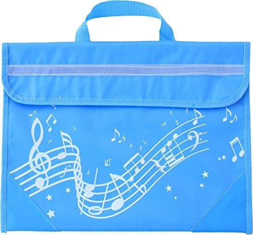 Musicwear Wavy Notenlinien Musikinstrument Tidy Musik einfach zu öffnender Klettverschluss, Musiker hellblau - Einfach Klettverschluss