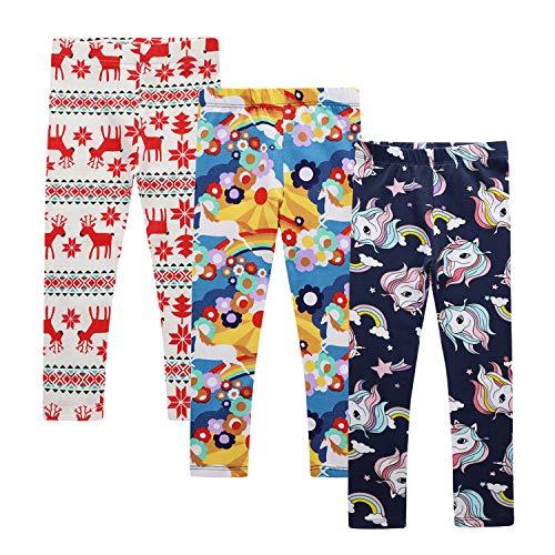 Zebricolo Pantalones Leggings Niñas Chicas Elásticos