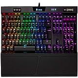 Corsair K70 RGB MK.2 Clavier Mécanique Gaming (Cherry MX Red: Lisse et rapide, Rétro-Éclairage RGB Multicolore, AZERTY FR Layout) - Noir