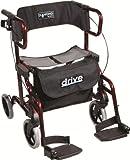 Drive Devilbiss Healthcare argento diamante Deluxe alluminio '2in 1' rollator/Transport Chair