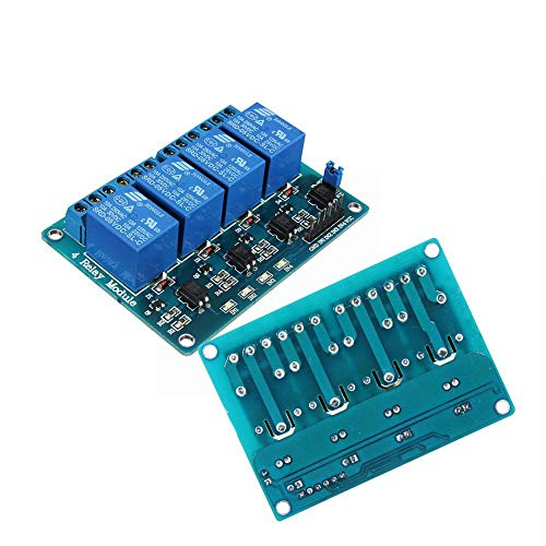 Generic 2Pcs Geekcreit 5V 4 Channel Relay Module For Arduino PIC ARM DSP AVR MSP430 Blue
