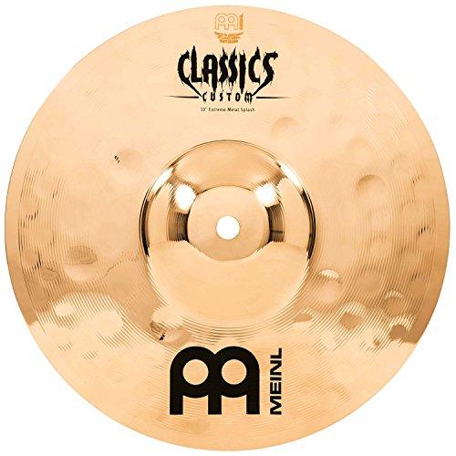 Meinl Cymbals CC10EMS-B Classics Custom Extreme Metal Serie 25,4 cm (10 Zoll) Splash Brilliant Becken (Meinl Classics Custom)