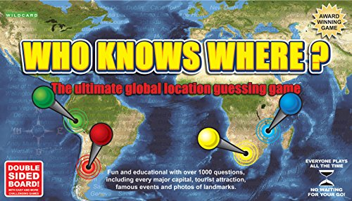 Who Knows Where? - The Global Location Guessing Family Board Game by Wild Card Games