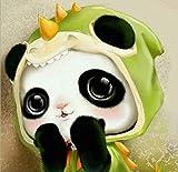 Diamante Pintura 5Ddiy Pequeño Panda Rubik Cubo Diamante Bordado 33X33Cm