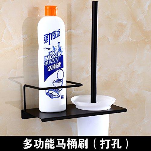 Punch Cup (MangeooAntike 304 Edelstahl multifunktionale WC-Bürste Rack, schwarz WC-Bürste, Badezimmer retro WC-Bürste, Wc Bürste (Frosted Cup) punch Geld)