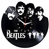 EVEVO The Beatles Wanduhr Vinyl Schallplatte Retro-Uhr Handgefertigt Vintage-Geschenk Style Raum Home Dekorationen Tolles Geschenk Wanduhr The Beatles