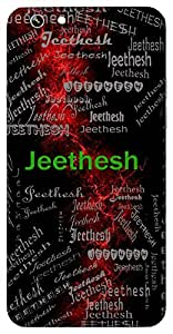 Jeethesh (Hindu Boy) Name & Sign Printed All over customize & Personalized!! Protective back cover for your Smart Phone : Samsung Galaxy S6 Edge