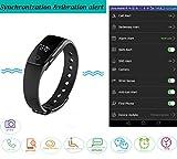 Fitness Tracker Smart Armband mit Pulsmesser, YAMAY® Bluetooth Smart Armbanduhr Sport Schrittzähler Aktivitätstracker mit Herzfrequenzmonitor / Schrittzähler / Kalorienzähler / Schlaf-Monitor, kompatibel mit iPhone IOS und Android-Handy - 6