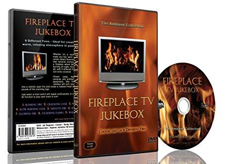 Feuer DVD - Kamin TV Jukebox - wählen Sie aus 9 Feuern mit den Geräuschen der Flammen und brennendem Holz
