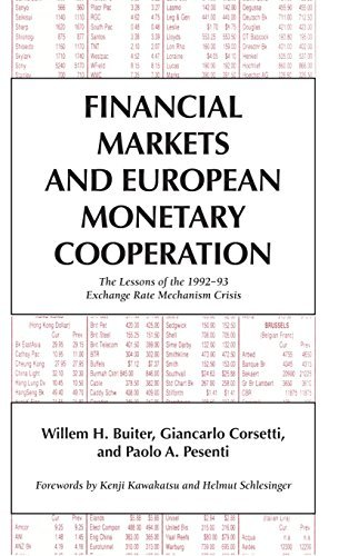 Financial Markets and European Monetary Cooperation: The Lessons of the 1992-93 Exchange Rate Mechanism Crisis (Japan-US Center UFJ Bank Monographs on International Financial Markets) by Willem H. Buiter (1998-01-13) par Willem H. Buiter;Giancarlo Corsetti;Paolo A. Pesenti