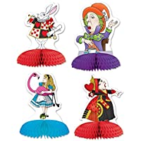 Pack of 4 Alice in Wonderland Mini Centerpieces - Party Decorations