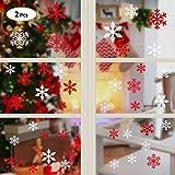2 Set Noël Autocollants Fenetre Flocons de Neige Noël PVC NoëL Stickers Décoration DIY Fenêtres Stickers Statique Réutilisable Deco Vitres Noel Décalcomanie Autocollant Amovibles Magasin Maison