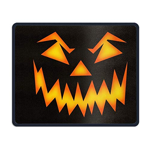 meniony Palette Scary Pumpkin Face Mouse Pad Funny Awesome Customized, Rectangle -