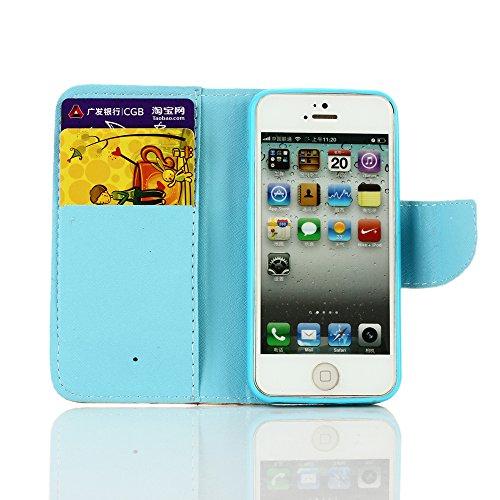 iPhone SE Hülle iPhone 5s Hülle iPhone 5 Hülle, Cozy Hut Handyhülle iPhone SE / 5 / 5S , PU Leder Tasche Hülle Schutzhülle Case Magnetverschluss Telefon-Kasten Handyhülle Standfunktion mit Kartenfach  Löwenzahn -Liebhaber