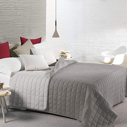 Caleffi Quilt Couvre-lit Modern Simple Double face gris