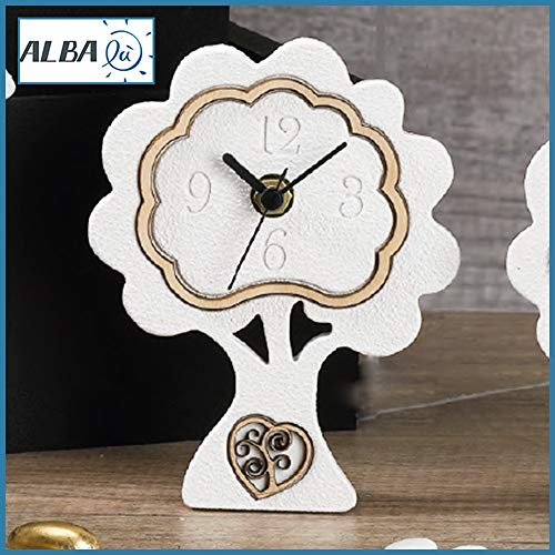 Bomboniere orologio albero della vita originale resina e legno