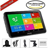 Jimwey Navegador GPS Para  Coche, Pantala De 7 Pulgadas, 512MB  16GB Mapas Actualizados Para Toda La Vida, Sistema Android (Android 2)
