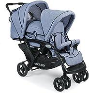 CHIC 4 BABY 274 55 dubbel barnvagn duo jeans ljusblå/blå