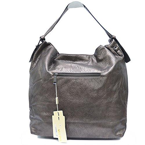 Tasche mit Handtasche Bronze Schulterriemen Tote Damen Shopper gesteppt Bag axRwIYwq
