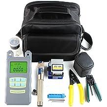 DAXGD 9 en 1 fibra óptica FTTH Kit de herramientas con FC-6S Fibra Cleaver