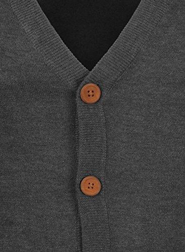BLEND 703656ME Cardigan, Größe:M;Farbe:Charcoal (70818) - 4