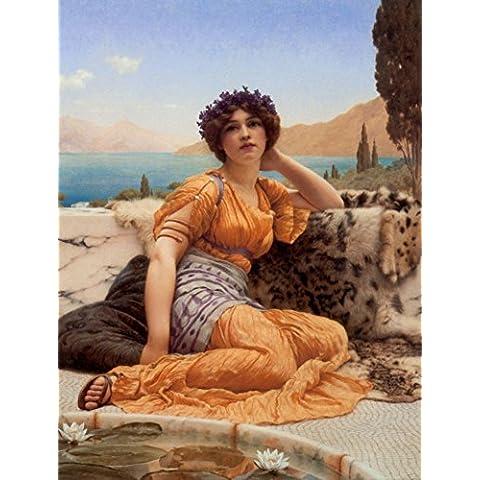 Il Outlet-Godward museo, con viole Wreathed e tunica da donna, in tela, colore: zafferano x 60,96 81,28 (24