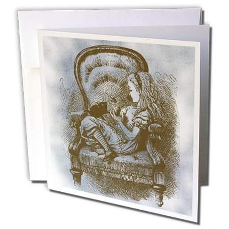 atze Alice im Wunderland Vintage-Grußkarte, 15,2x 15,2cm, Single (GC 110210_ 5) ()
