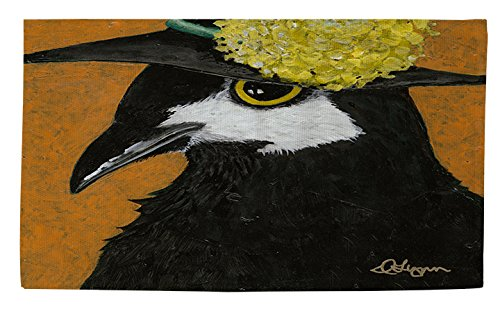 Manuelle holzverarbeiter & Weavers Dobby Bad Teppich, 4von druckknopfstiel, Sie Silly Bird Marty