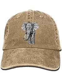 Rghkjlp Gorras de béisbol Ajustables del Sombrero de Vaquero del Vintage  del Elefante Indio para el 5f02e252783