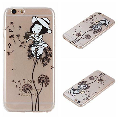Voguecase® Per Apple iPhone 6/6S 4.7, Custodia Silicone Morbido Flessibile TPU Custodia Case Cover Protettivo Skin Caso (unicorno 02) Con Stilo Penna Dandelion ragazza 01