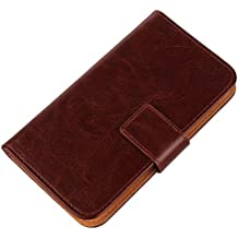 Gukas Flip PU Billetera Design Funda De Carcasa Cartera De Cuero Case Cover Piel Para INew V3 / V3 Plus (Brown)