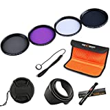 K&F Concept 55mm UV CPL FLD ND4 Filtro Kit de Accessorios de Lente UV Protector Circular Pol...