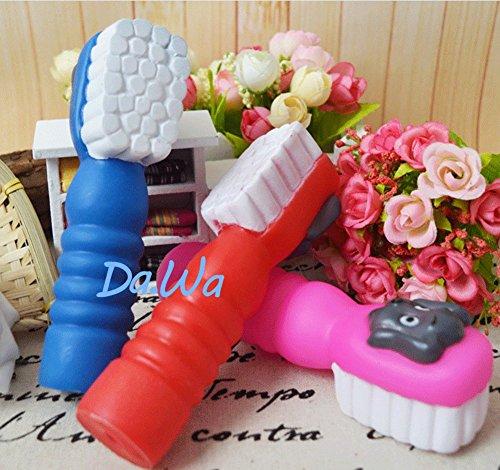 Da.Wa Mini Zahnbürste Form Hund Kaut Hundespielzeug Sprachspielzeug,Gummi,Zufall Farbe - 5