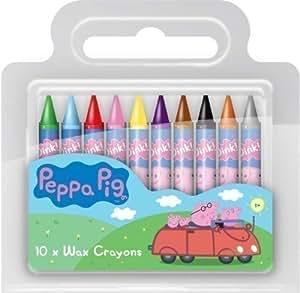 peppa pig wachsmalstifte gro e malstifte 10 st ck in tasche partygeschenk spielzeug. Black Bedroom Furniture Sets. Home Design Ideas