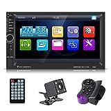 "Elerose Auto Video Player 7""Touchscreen Multimedia MP5 Player USB FM Bluetooth mit Rückfahrkamera Fernbedienung"