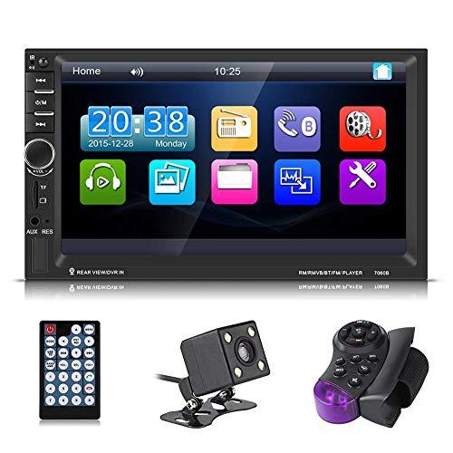 Qiilu 7inch HD Touch Screen Bluetooth Auto MP5 Spieler FM Radio AUX USB Rearview Kamera Fernsteuerungs