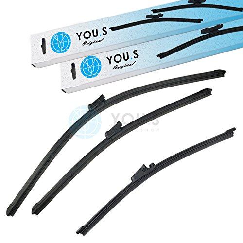 Preisvergleich Produktbild YOU.S SCHEIBENWISCHER SET VORNE + HINTEN 280+600+475 mm