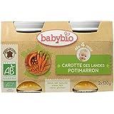 Babybio Pots Carotte des Landes Potimarron 260 g - Lot de 6