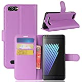 Casefirst Doogee X30 Case Luxury PU Leather Wallet Flip Protective Skin Case Cover with Card Slots and Stand for Doogee X30 Purple